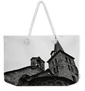 Church Of The Assumption Of Mary In Bossost - Abse And Tower Bw Weekender Tote Bag
