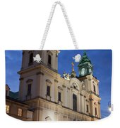 Church Of The Holy Cross At Night In Warsaw Weekender Tote Bag