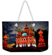 Church Of The Savior On Spilled Blood Lantern At Sunset Weekender Tote Bag
