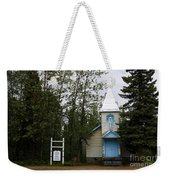 Church On Alaskan Highway Weekender Tote Bag