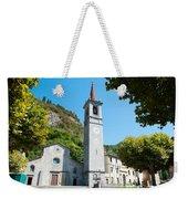 Church On Main Square, Varenna, Lake Weekender Tote Bag