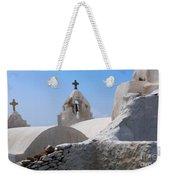 Church On Mykonos Weekender Tote Bag