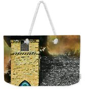 Church Painted Effect Weekender Tote Bag