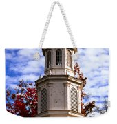 Church Steeple In Autumn Blue Sky Clouds Fine Art Prints As Gift For The Holidays Weekender Tote Bag