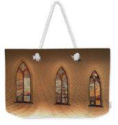 Church Windows Weekender Tote Bag
