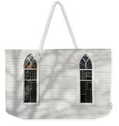 Church Windows With Tree Shadows Weekender Tote Bag