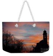 Church With Orange Sky Weekender Tote Bag