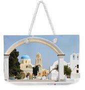 Churches Oia Santorini Greek Islands Weekender Tote Bag