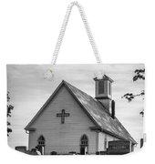 Churchyard Bw Weekender Tote Bag