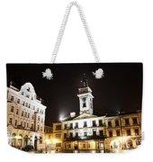 Cieszyn Town Center At Night Weekender Tote Bag