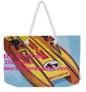Cigarett Power Boat Illustration Weekender Tote Bag