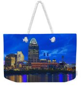 Cincinnati At Sunset Weekender Tote Bag