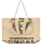 Cincinnati Bengals Logo Vintage Weekender Tote Bag