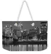 Cincinnati Black And White Night Weekender Tote Bag