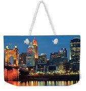 Cincinnati Blue Hour Weekender Tote Bag