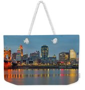 Cincinnati On The Riverfront Weekender Tote Bag
