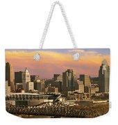 Cincinnati Over The Bridge Weekender Tote Bag