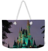 Cinderella Castle At Night  Weekender Tote Bag
