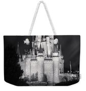 Cinderella's Castle Reflection Black And White Weekender Tote Bag