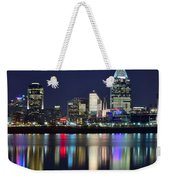 Cinicinnati At Dusk Weekender Tote Bag