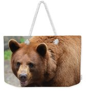 Cinnamon Black Bear Weekender Tote Bag