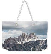 Cinque Torri Area In The Dolomites Weekender Tote Bag