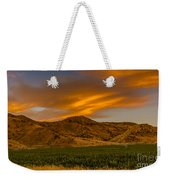 Circle Of Corn At Sunrise Weekender Tote Bag