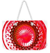 Circle Red Weekender Tote Bag