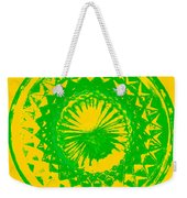 Circle Yellow Weekender Tote Bag