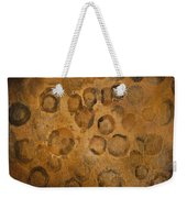 Circles Of Gold Weekender Tote Bag