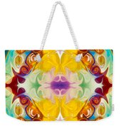 Circling The Unknown Abstract Healing Artwork By Omaste Witkowsk Weekender Tote Bag