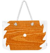 Circular Saw Blade With Pine Wood Texture Weekender Tote Bag by Stephan Pietzko
