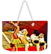Circus Dog Act Weekender Tote Bag