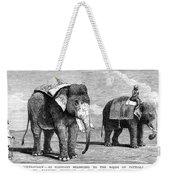 Circus Elephants, 1884 Weekender Tote Bag