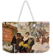 Circus Star Kidnapped Wilhio S Poster For De Dion Bouton Cars Weekender Tote Bag