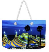 Circus Tent Swirls Of Blue Yellow Original Fine Art Photography Print  Weekender Tote Bag