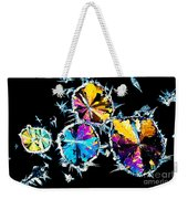 Citric Acid Crystals In Polarized Light Weekender Tote Bag