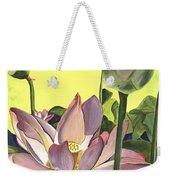 Citron Lotus 2 Weekender Tote Bag