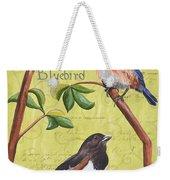Citron Songbirds 1 Weekender Tote Bag by Debbie DeWitt