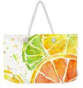 Citrus Fruit Watercolor Weekender Tote Bag
