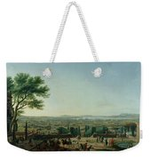 City And Port Of Toulon, 1756 Oil On Canvas Weekender Tote Bag