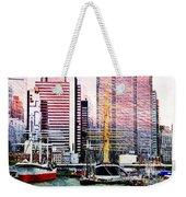City And Water Weekender Tote Bag