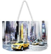 City-art Times Square II Weekender Tote Bag by Melanie Viola