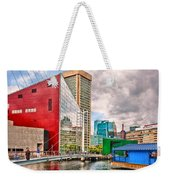 City - Baltimore Md - Harbor Place - Future City  Weekender Tote Bag