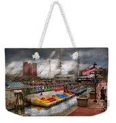 City - Baltimore Md - Modern Maryland Weekender Tote Bag by Mike Savad