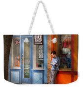 City - Baltimore Md - Waiting By Joe's Bike Shop  Weekender Tote Bag