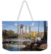 City Centre Of Rotterdam In Netherlands Weekender Tote Bag