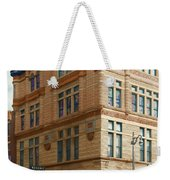City - Chattanooga Tn - 1943 - The Masonic Temple Weekender Tote Bag by Mike Savad