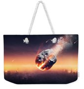 City Destroyed By Meteor Shower Weekender Tote Bag