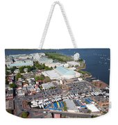 City Dock And Usna In Annapolis Weekender Tote Bag